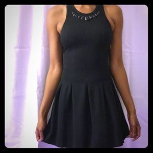 Black pleaded juicy couture dress